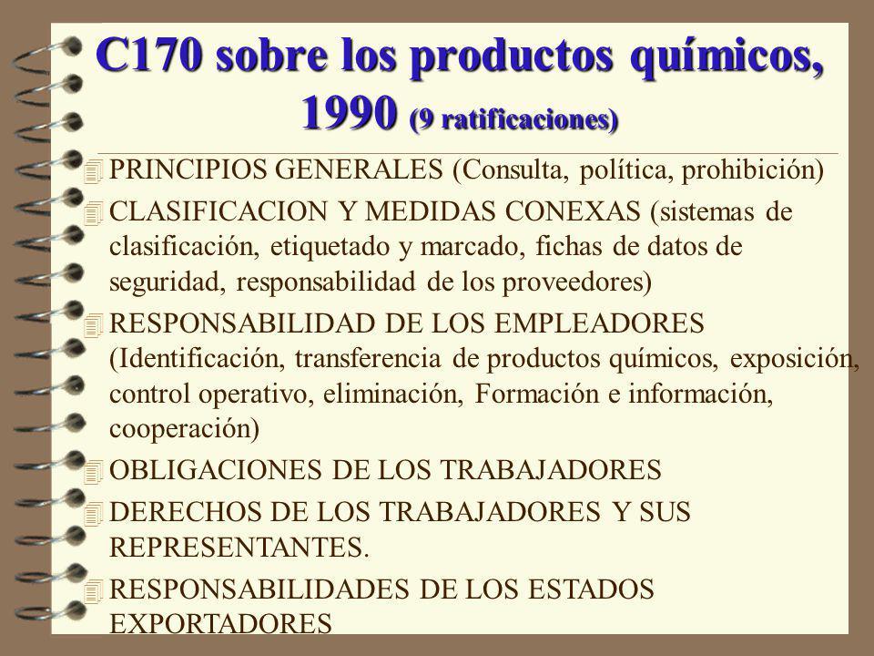 C170 sobre los productos químicos, 1990 (9 ratificaciones)