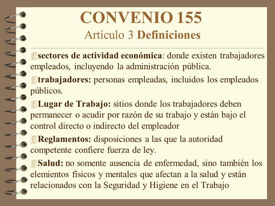 CONVENIO 155 Artículo 3 Definiciones
