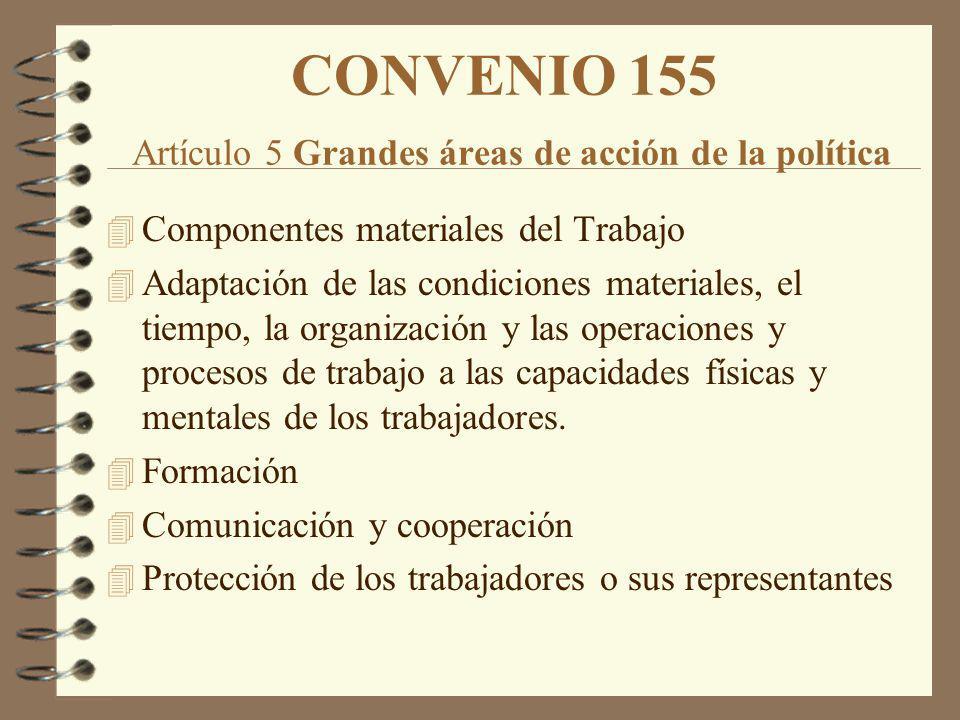 CONVENIO 155 Artículo 5 Grandes áreas de acción de la política