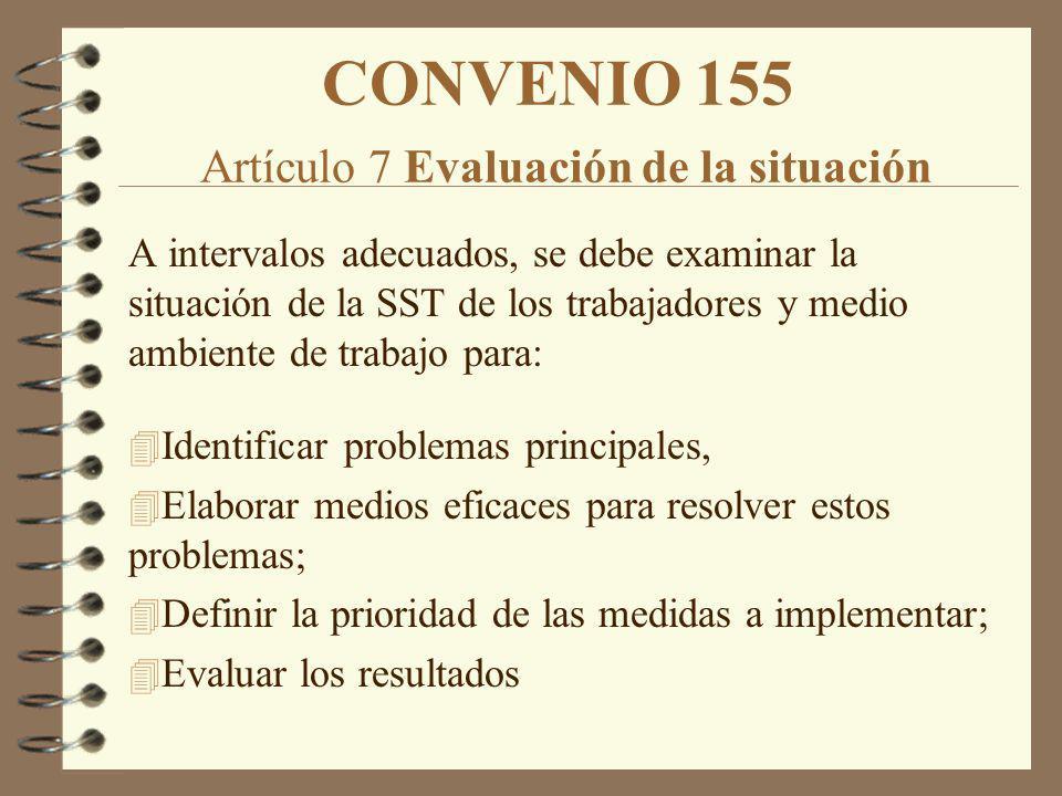 CONVENIO 155 Artículo 7 Evaluación de la situación