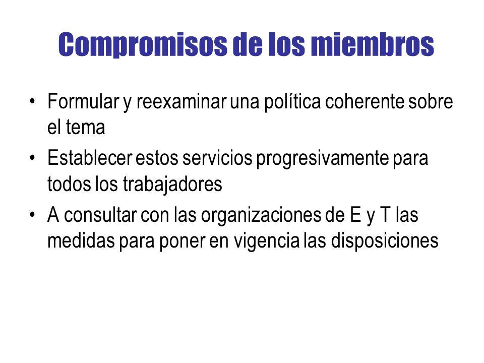 Compromisos de los miembros