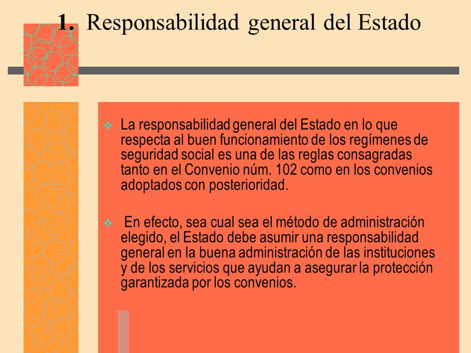 1. Responsabilidad general del Estado