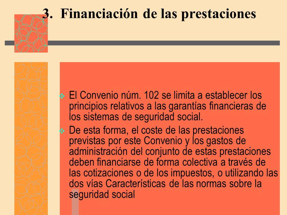 3. Financiación de las prestaciones