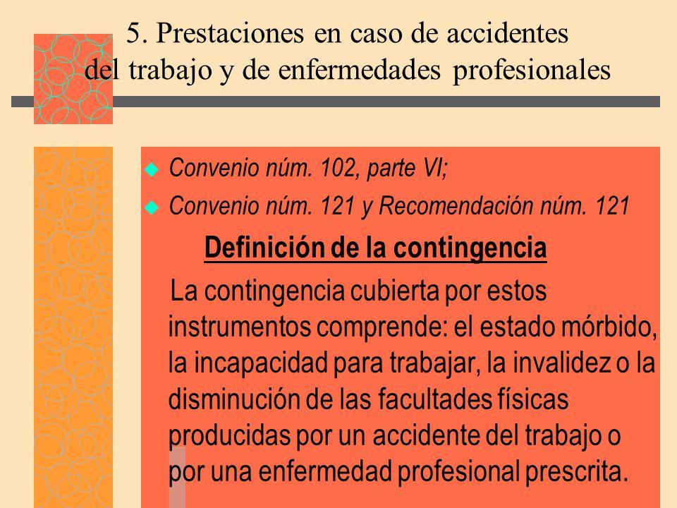 Definición de la contingencia