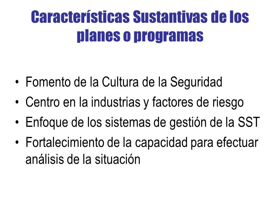 Características Sustantivas de los planes o programas