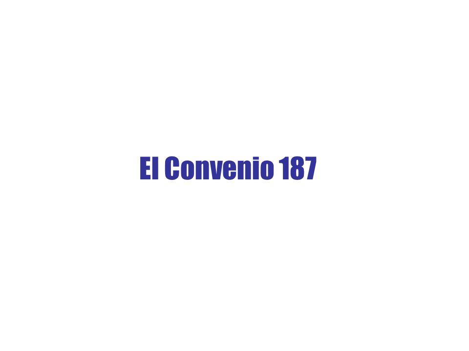 El Convenio 187