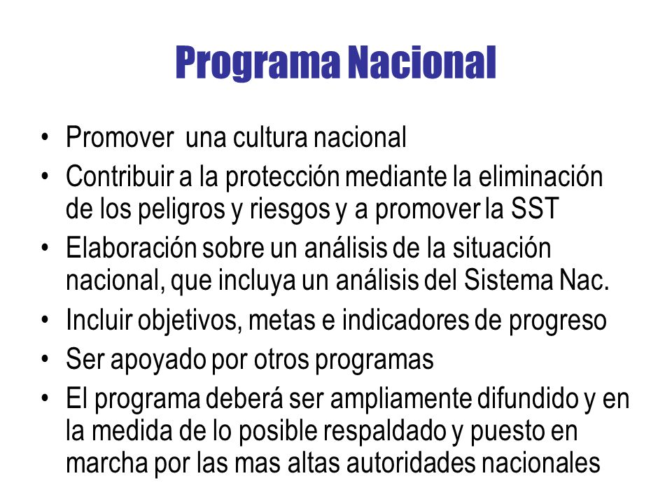 Programa Nacional Promover una cultura nacional