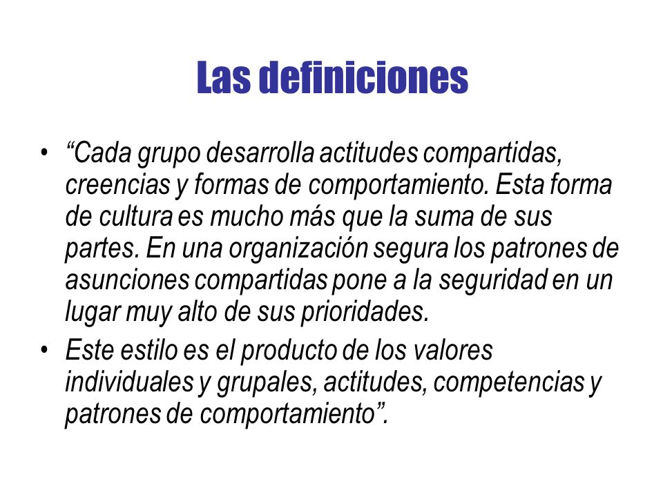 Las definiciones