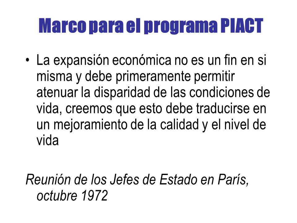 Marco para el programa PIACT