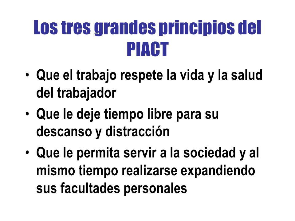 Los tres grandes principios del PIACT
