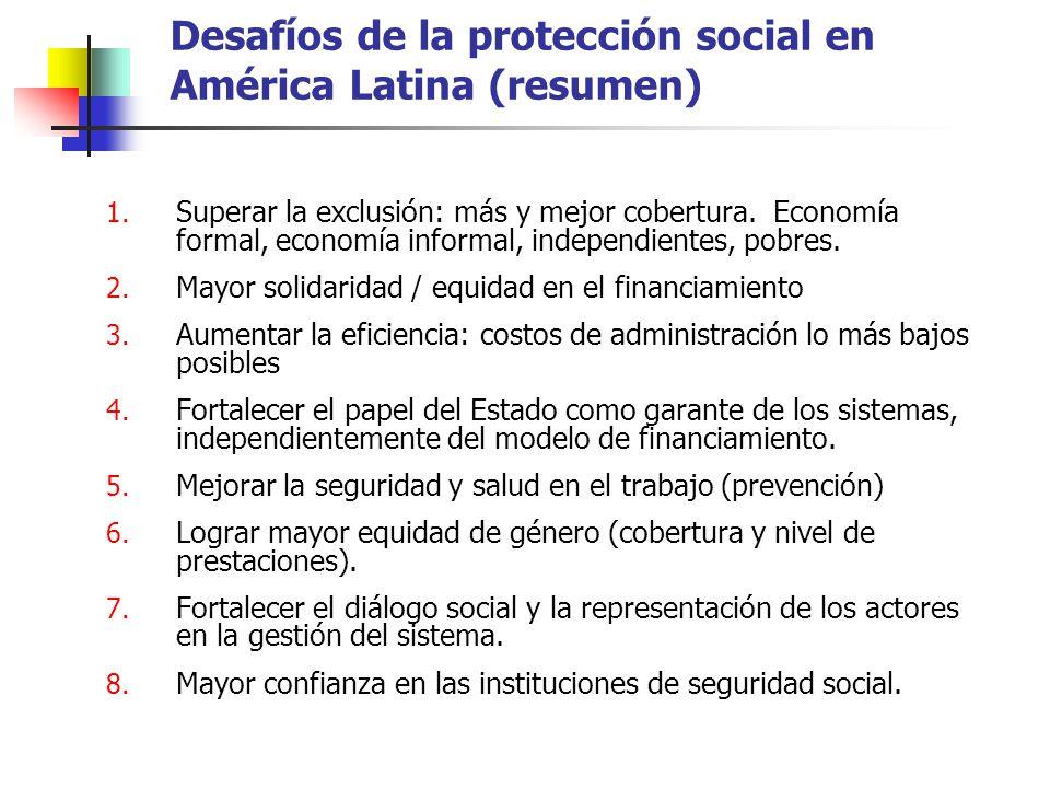 Desafíos de la protección social en América Latina (resumen)