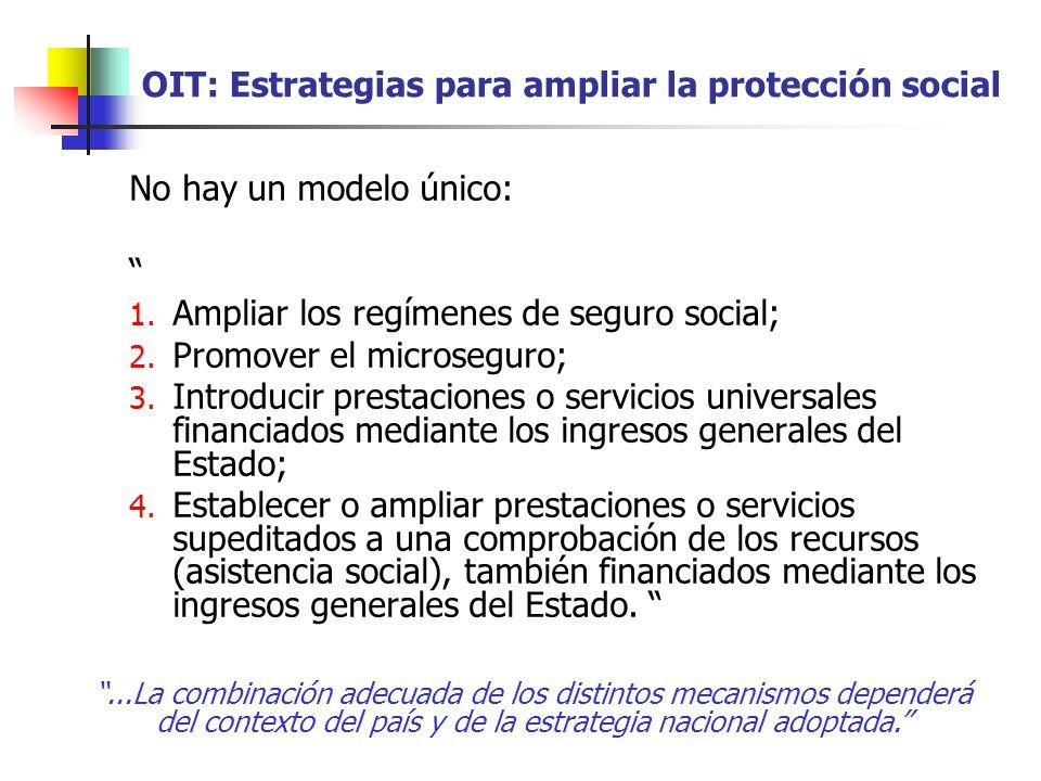 OIT: Estrategias para ampliar la protección social