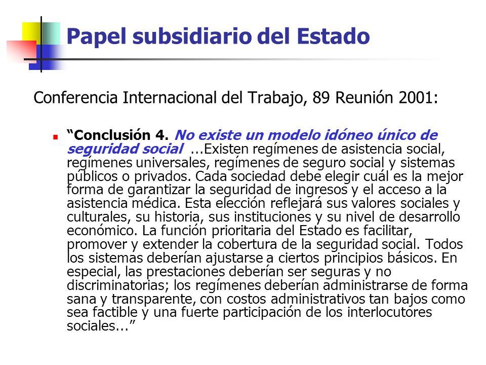 Papel subsidiario del Estado