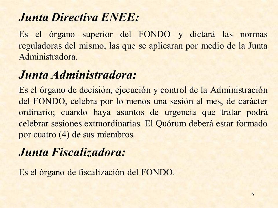 Es el órgano de fiscalización del FONDO.