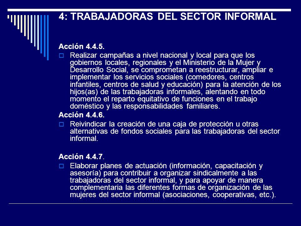4: TRABAJADORAS DEL SECTOR INFORMAL