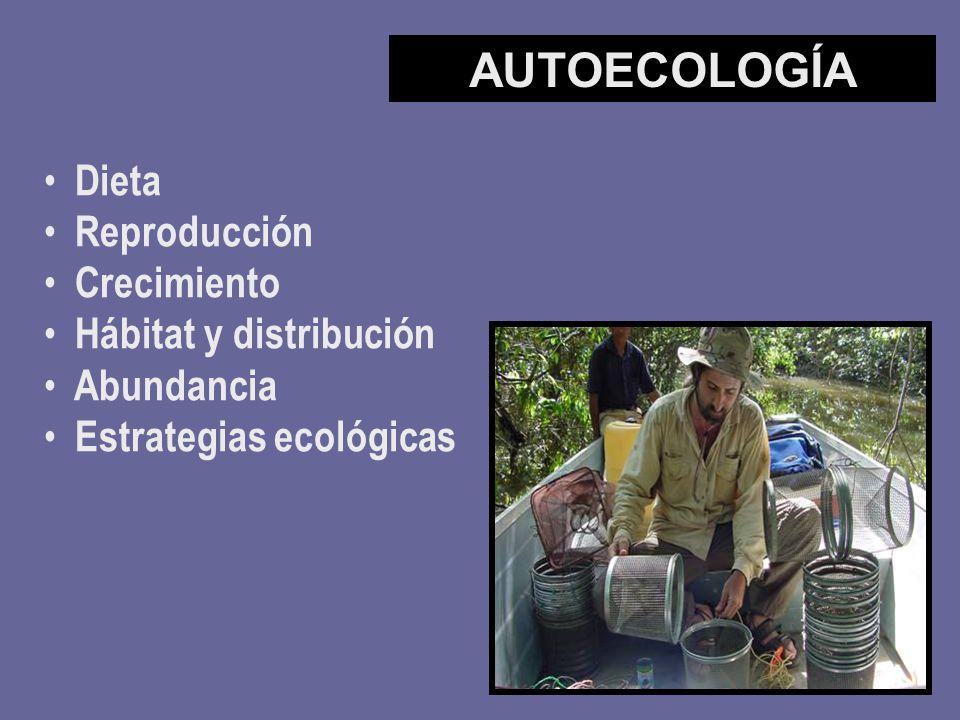 AUTOECOLOGÍA Dieta Reproducción Crecimiento Hábitat y distribución