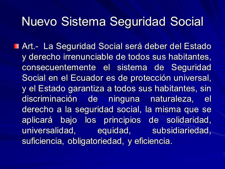 Nuevo Sistema Seguridad Social
