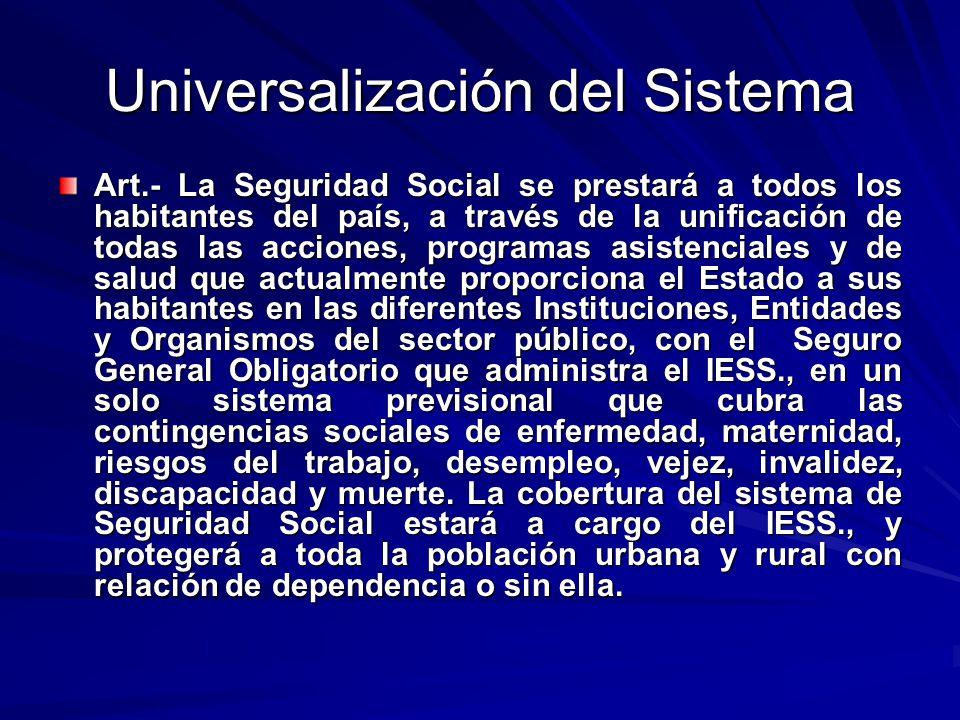 Universalización del Sistema