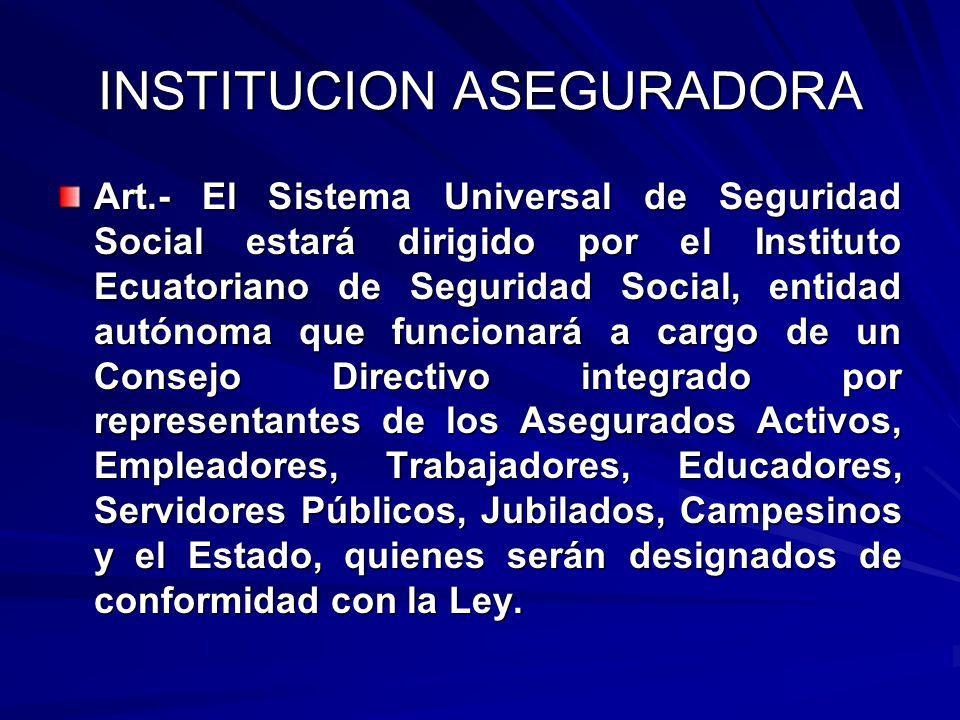 INSTITUCION ASEGURADORA