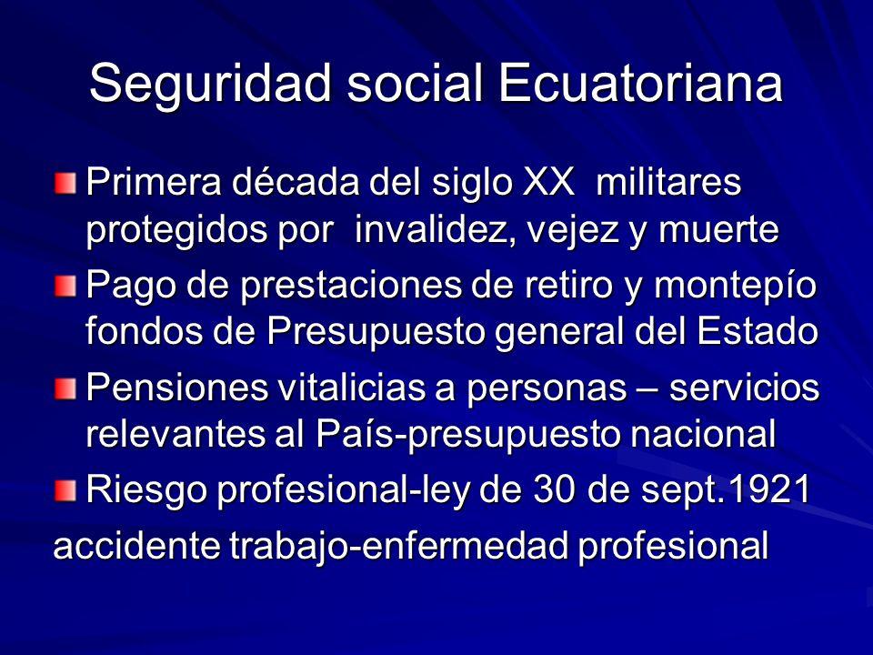 Seguridad social Ecuatoriana