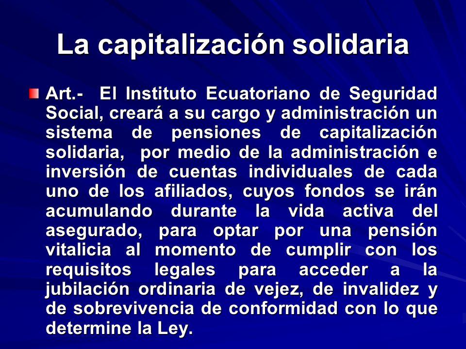La capitalización solidaria