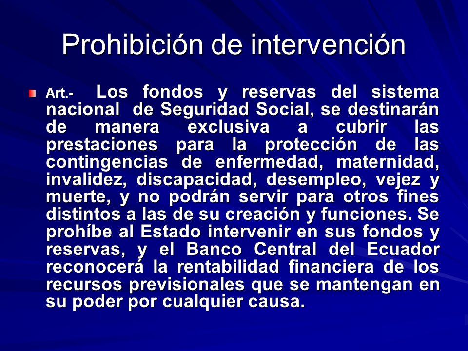 Prohibición de intervención