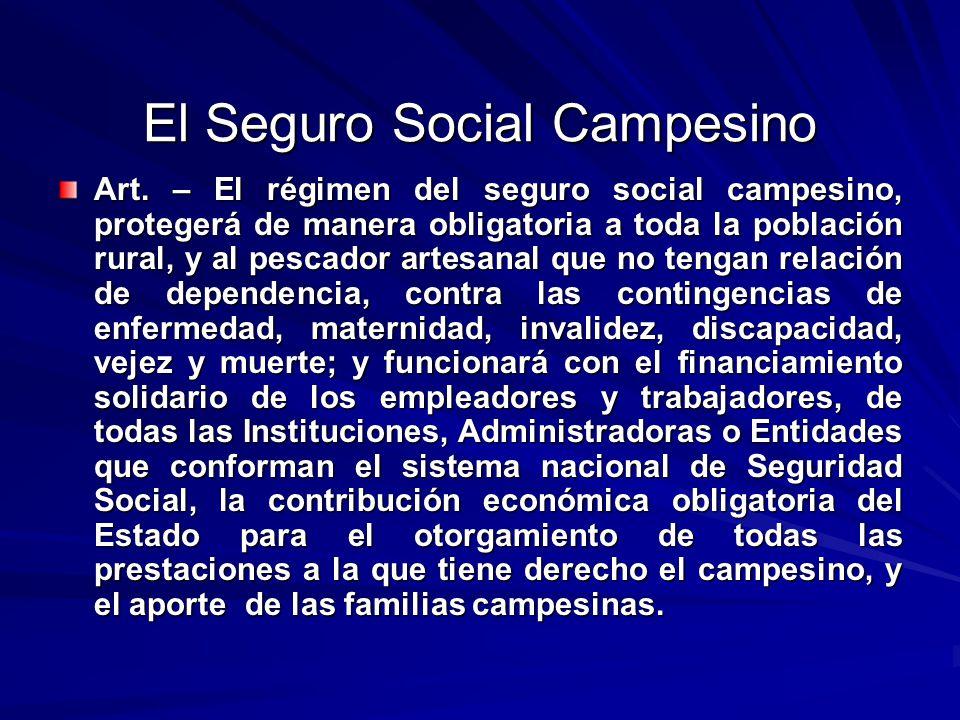 El Seguro Social Campesino