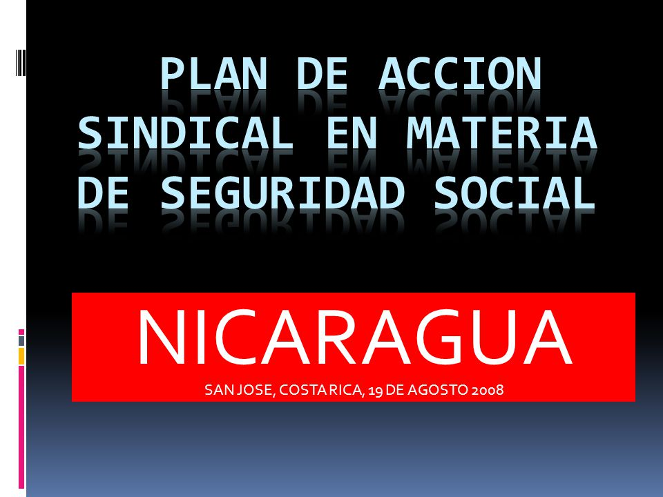 PLAN DE ACCION SINDICAL EN MATERIA DE SEGURIDAD SOCIAL