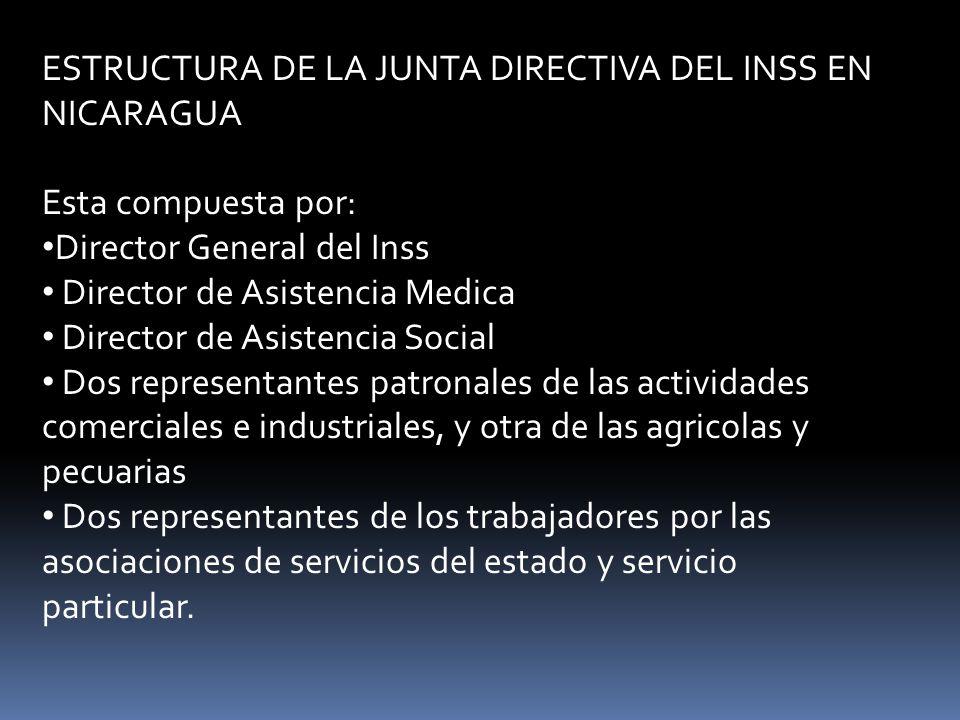 ESTRUCTURA DE LA JUNTA DIRECTIVA DEL INSS EN NICARAGUA