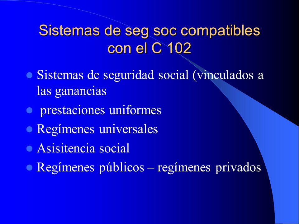 Sistemas de seg soc compatibles con el C 102