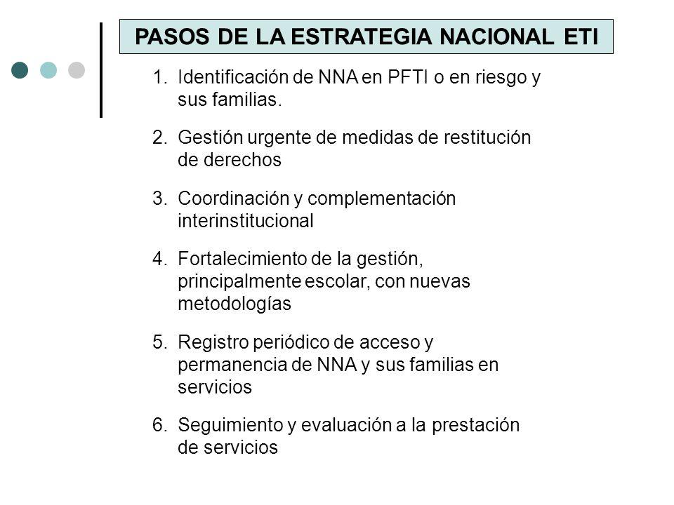 PASOS DE LA ESTRATEGIA NACIONAL ETI