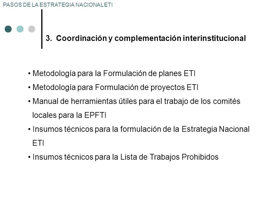 Coordinación y complementación interinstitucional