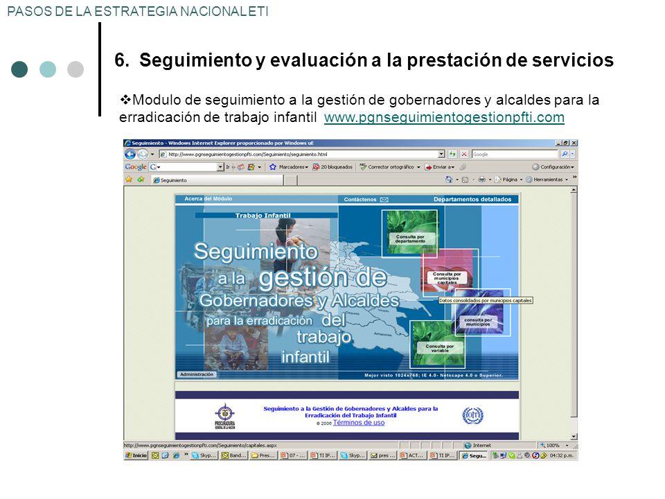 Seguimiento y evaluación a la prestación de servicios