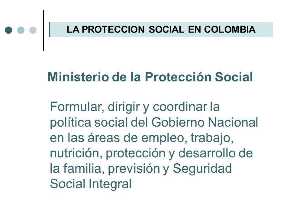 LA PROTECCION SOCIAL EN COLOMBIA