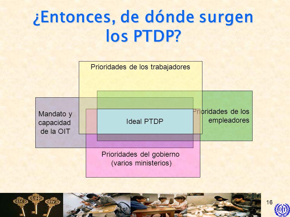 ¿Entonces, de dónde surgen los PTDP