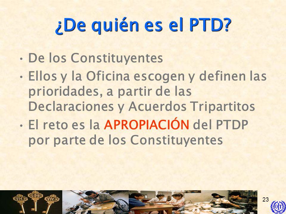 ¿De quién es el PTD De los Constituyentes