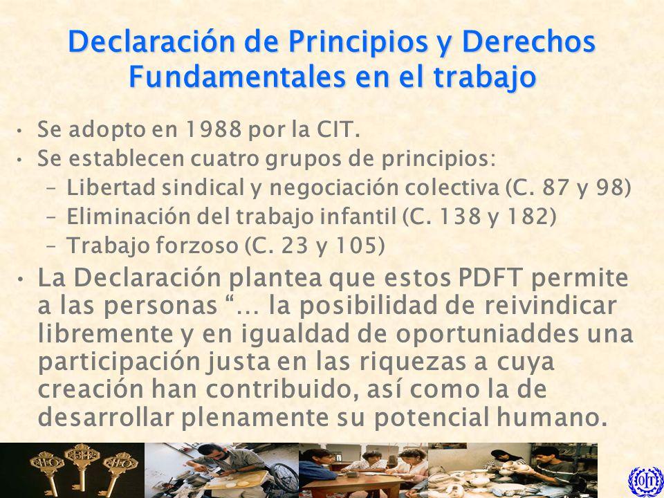 Declaración de Principios y Derechos Fundamentales en el trabajo