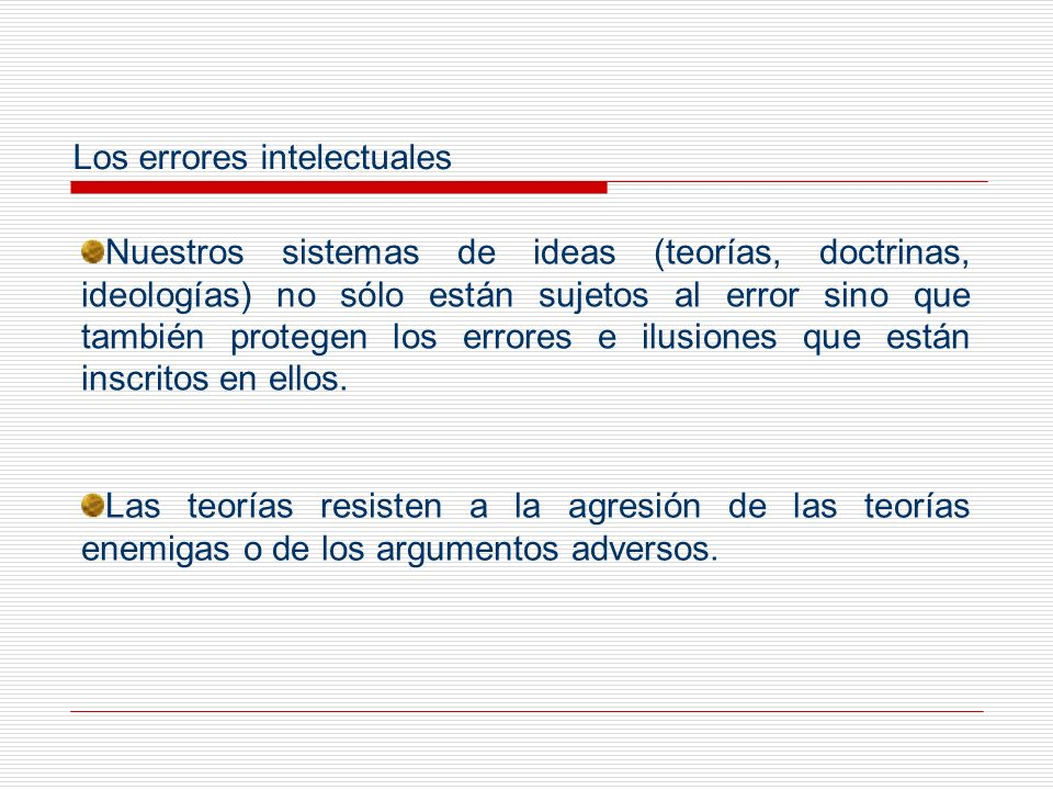 Los errores intelectuales