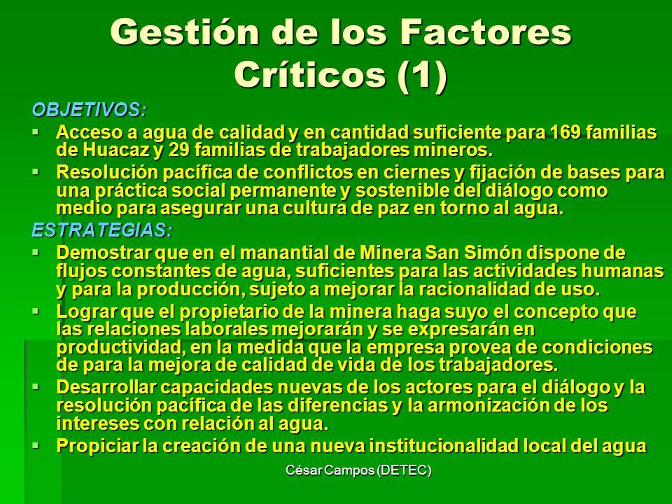 Gestión de los Factores Críticos (1)
