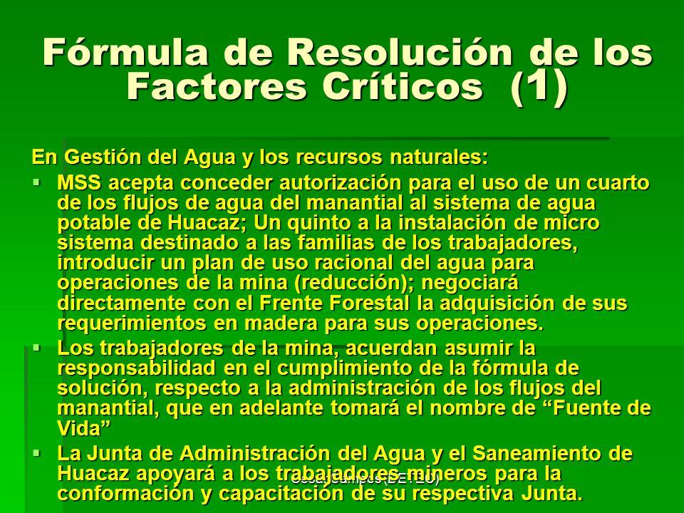Fórmula de Resolución de los Factores Críticos (1)
