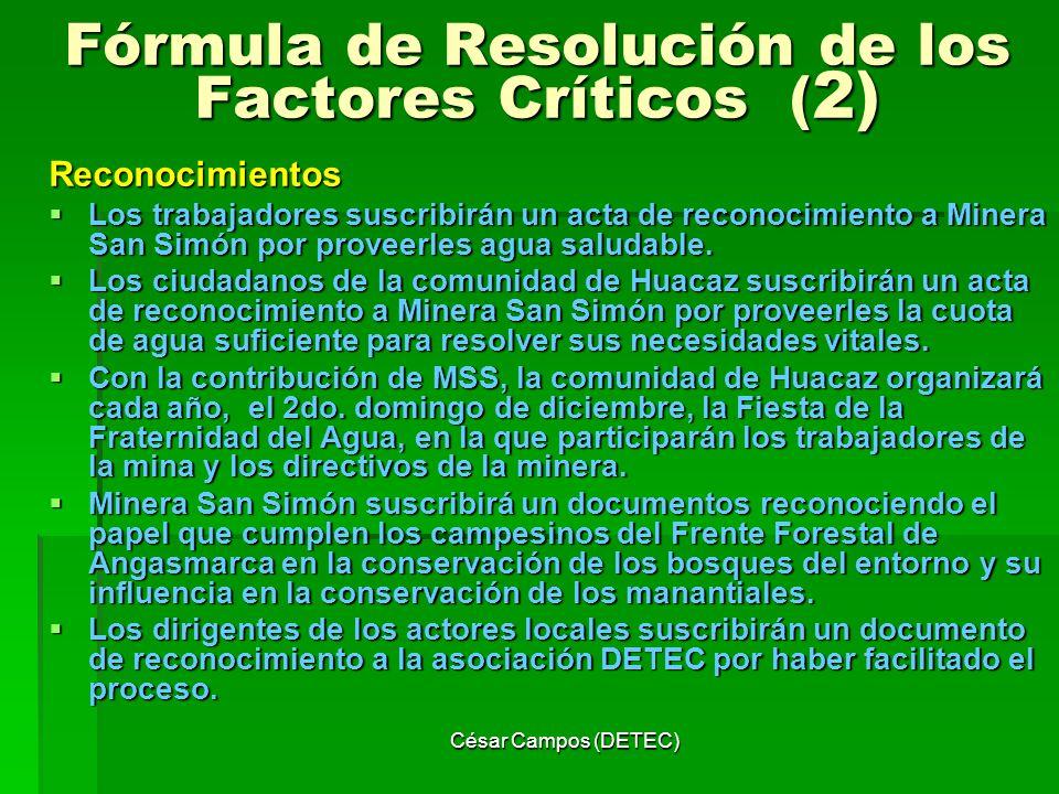 Fórmula de Resolución de los Factores Críticos (2)