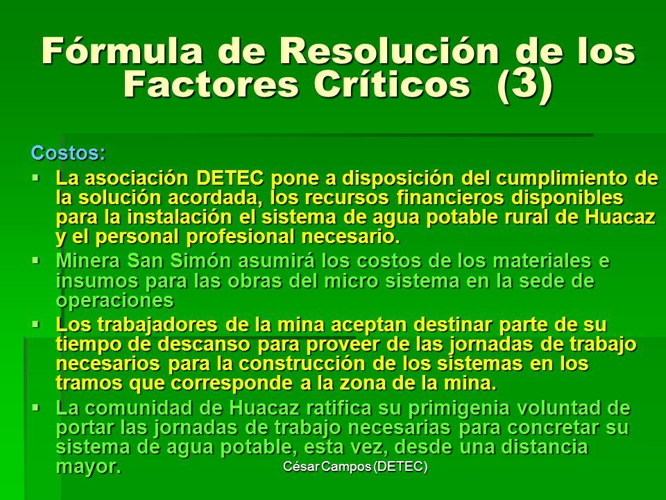 Fórmula de Resolución de los Factores Críticos (3)