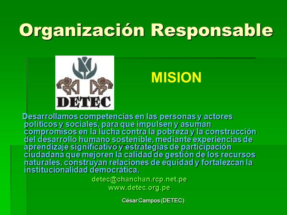Organización Responsable