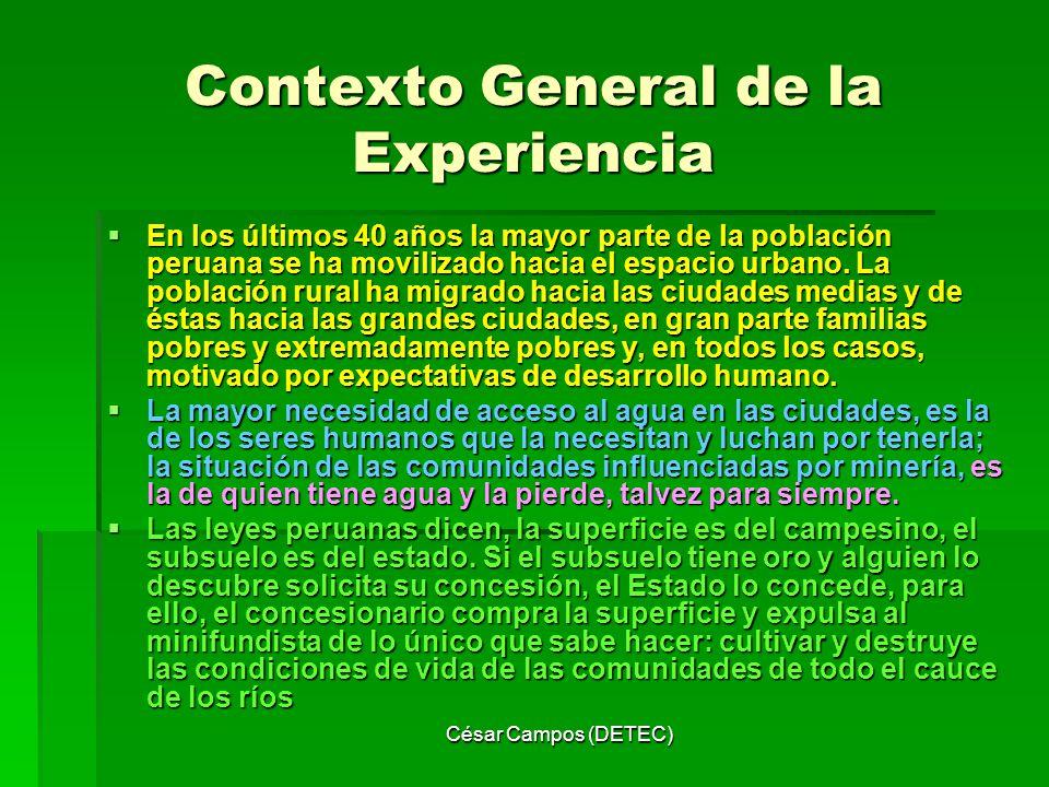 Contexto General de la Experiencia
