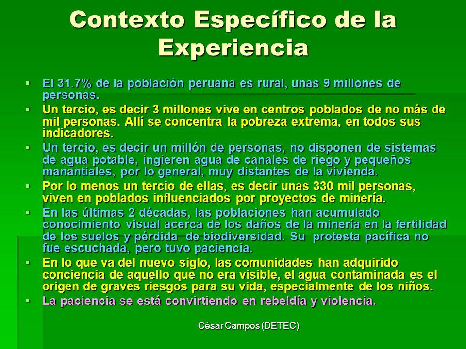 Contexto Específico de la Experiencia