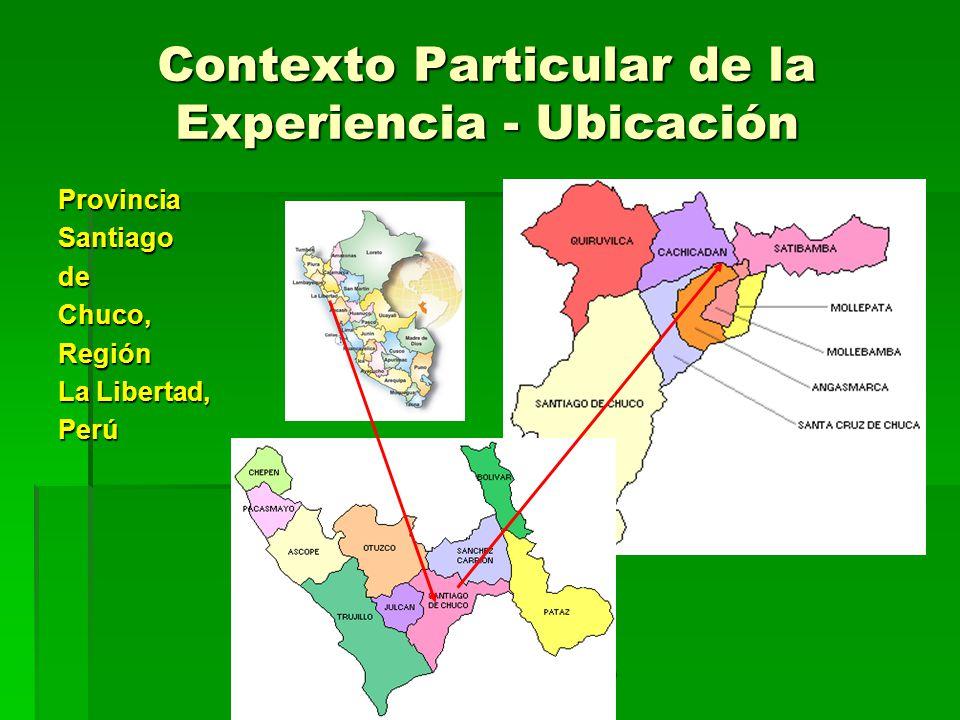 Contexto Particular de la Experiencia - Ubicación