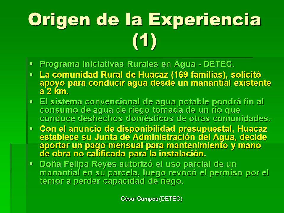 Origen de la Experiencia (1)
