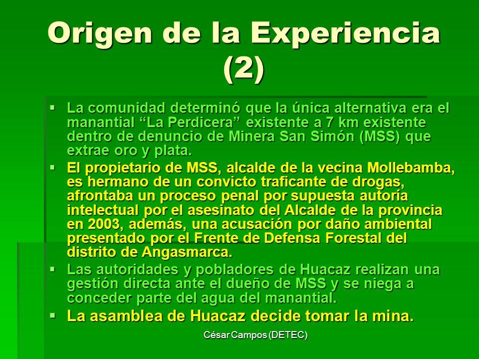 Origen de la Experiencia (2)