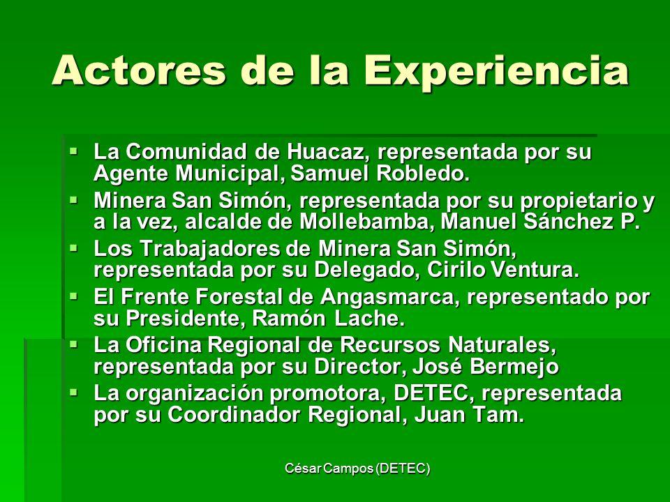 Actores de la Experiencia