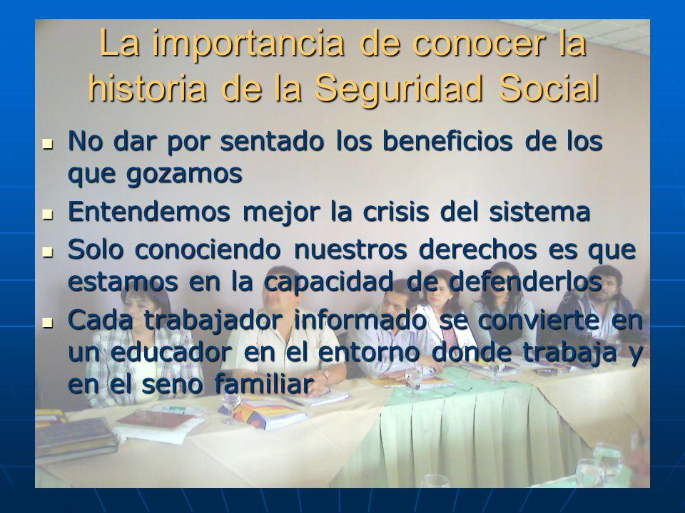 La importancia de conocer la historia de la Seguridad Social